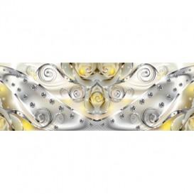 Rohová fototapeta - FT5639 - Žlté ruže