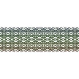 Rohová fototapeta - FT4046 - Zeleno modrý vzor