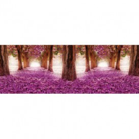 Rohová fototapeta - FT4050 - Ružová alej