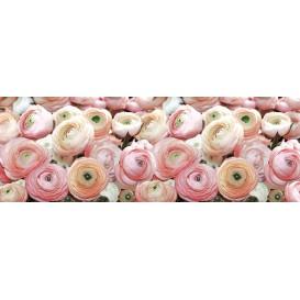 Rohová fototapeta - FT4072 - Ružovo biele ruže