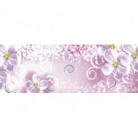 Rohová fototapeta - FT4063 - Fialový kvetový vzor