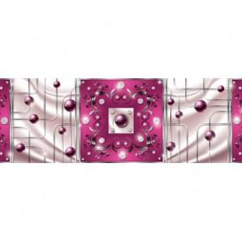 Rohová fototapeta - FT4064 - Fialovo ružový ornament