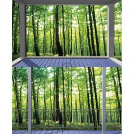 Rohová fototapeta - FT5653 - Zelený les - výhľad