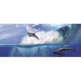 Rohová fototapeta - FT0173 - Delfíny
