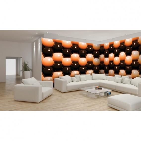 Rohová fototapeta - FT0582 - 3D Oranžové guľôčky