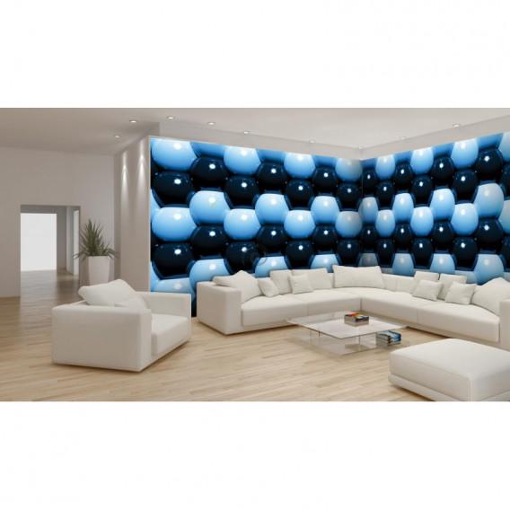 Rohová fototapeta - FT0584 - 3D Modré guľôčky