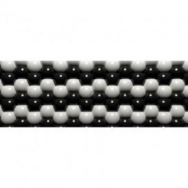 Rohová fototapeta - FT0588 - 3D Sivé guľôčky