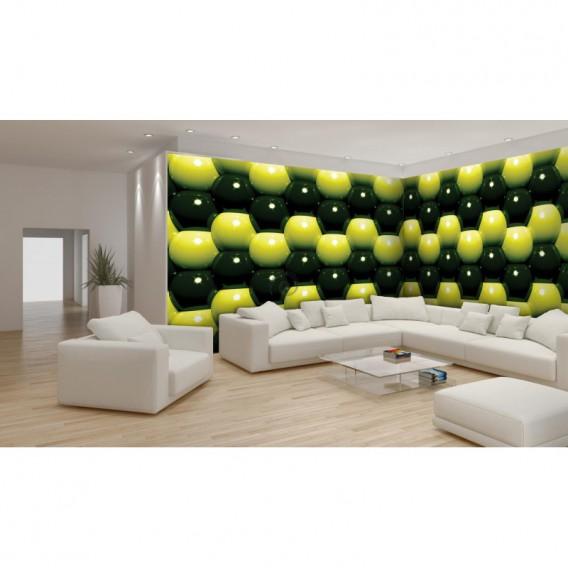 Rohová fototapeta - FT0586 - 3D Zelené guľôčky