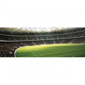 Rohová fototapeta - FT0502 - Futbalový štadión - pohľad z tribúny