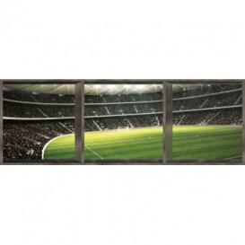 Rohová fototapeta - FT0503 - Futbalový štadión -okno