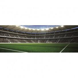 Rohová fototapeta - FT0504 - Futbalový štadión - pohľad z rohu ihriska