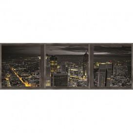 Rohová fototapeta - FT0360 - Nočné mesto - okno