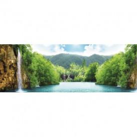 Rohová fototapeta - FT0016 - Krajina s vodopádom