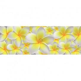 Rohová fototapeta - FT0222 - Žlto biele kvety