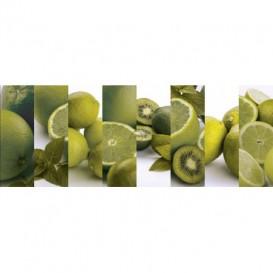 Panel kuchynská linka - FT5657 - Ovocie zelené citrusy
