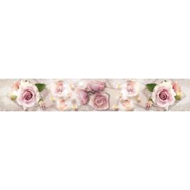 Panel kuchynská linka - FT5680 - Ružové ruže