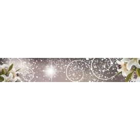Panel kuchynská linka - FT5686 - Abstraktný vzor a biele kvety