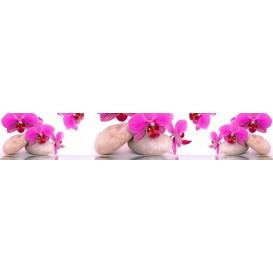 Panel kuchynská linka - FT5688 - Ružové orchidey a kamene