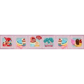 Panel kuchynská linka - FT5691 - Retro cukráreň