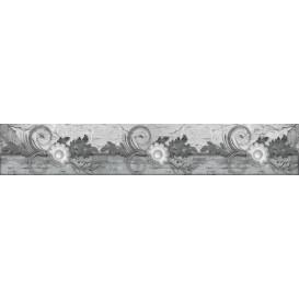 Panel kuchynská linka - FT5692 - Klasický čierno biely vzor