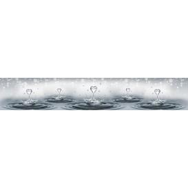 Panel kuchynská linka - FT5696 - Srdiečkové kvapky vody
