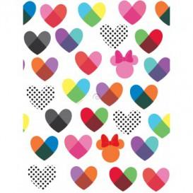 Tapeta na stenu - TA0028 - Minnie a farebné srdiečka