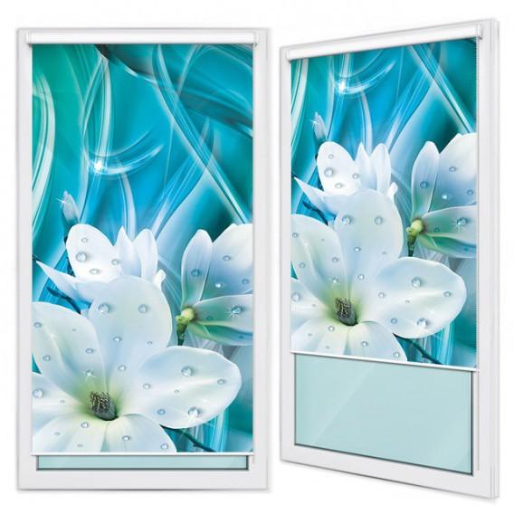 Fotoroleta - FR0119 - Biele kvety