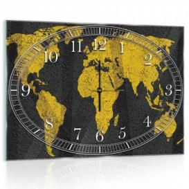 Nástenné hodiny - NH0001 - Mapa sveta