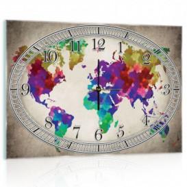 Nástenné hodiny - NH0008 - Mapa sveta
