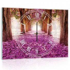 Nástenné hodiny - NH0123 - Ružový les