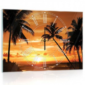 Nástenné hodiny - NH0124 - Palmy