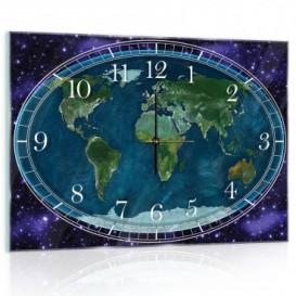 Nástenné hodiny - NH0131 - Mapa sveta