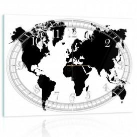 Nástenné hodiny - NH0132 - Mapa sveta