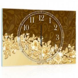 Nástenné hodiny - NH0151 - Zlaté kvety