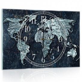 Nástenné hodiny - NH0153 - Mapa sveta