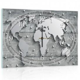 Nástenné hodiny - NH0164 - Mapa sveta