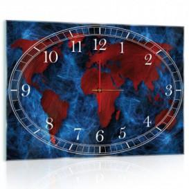 Nástenné hodiny - NH0165 - Mapa sveta