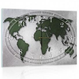 Nástenné hodiny - NH0166 - Mapa sveta