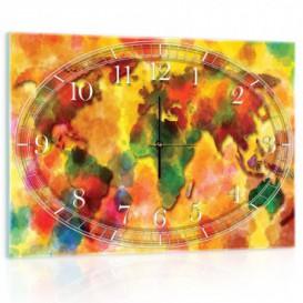 Nástenné hodiny - NH0167 - Mapa sveta