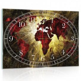Nástenné hodiny - NH0168 - Mapa sveta