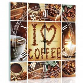 Nástenné hodiny - NH0186 - Káva