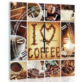 Nástenné hodiny - NH0187 - Káva