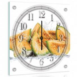 Nástenné hodiny - NH0223 - Žltý melón