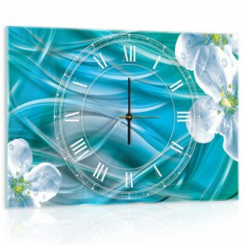 Nástenné hodiny - NH0229 - Biele kvety
