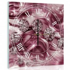 Nástenné hodiny - NH0231 - Diamanty