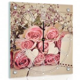 Nástenné hodiny - NH0236 - Ruže