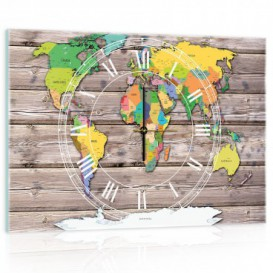 Nástenné hodiny - NH0270 - Mapa sveta