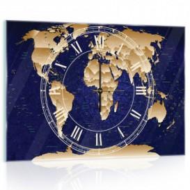 Nástenné hodiny - NH0271 - Mapa sveta