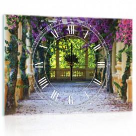 Nástěnné hodiny - NH0274 - Barevné květy