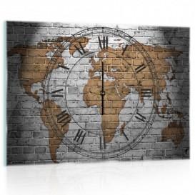 Nástenné hodiny - NH0276 - Mapa sveta